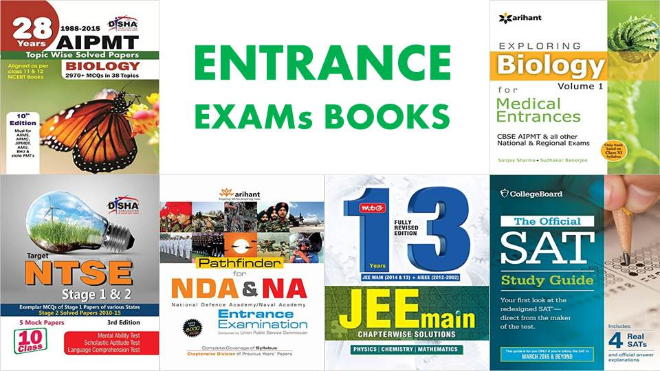 ENTRANCE EXAMs BOOKS